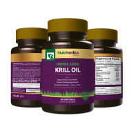 Krill Oil 3 Bottle View