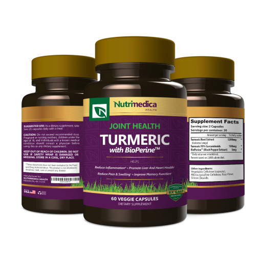Turmeric 60 3 Bottle View