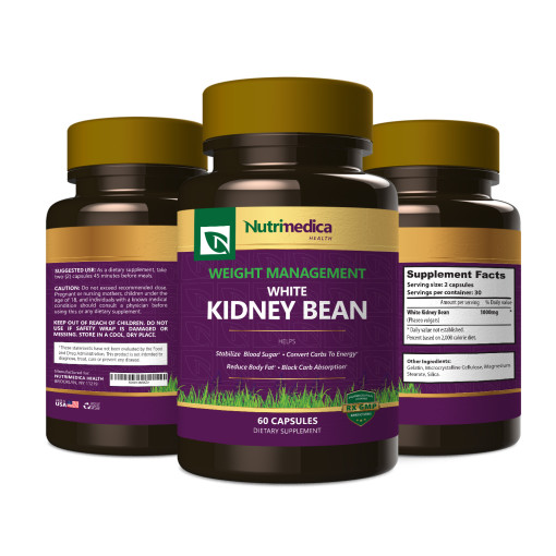 White Kidney Bean 3 Bottle View